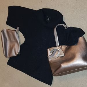 Lot of Style & Co. PL Sweater & Bag with pouch